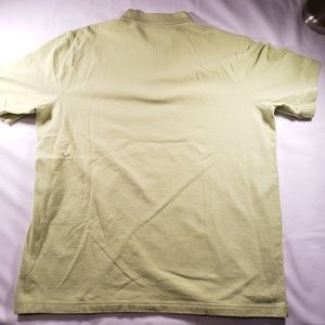 Lands' End Shirts - 2 Large Land's End Green and Yellow Polos